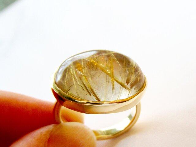 14KYG[ルチルの実]ルチルクォーツ(針水晶)の画像1枚目