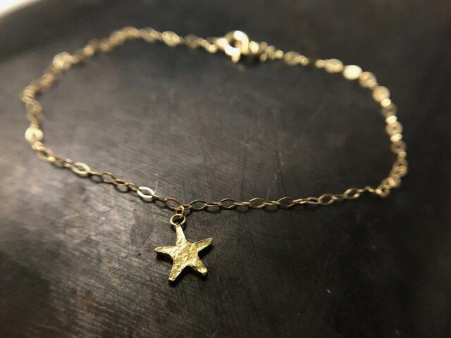 ◆K18◆ 星のブレスレットの画像1枚目