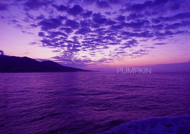 三宅島の夜明け-Ⅰ  PH-A4-0107  写真 伊豆七島 夜明け 夜明け雲 朝焼けの画像1枚目