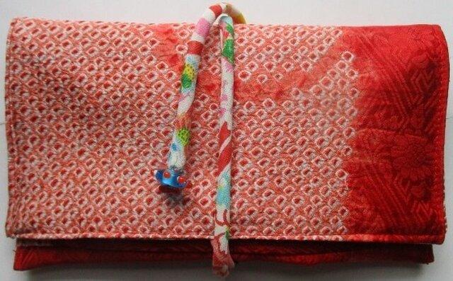 送料無料 絞りの羽織で作った和風財布・ポーチ 2930の画像1枚目