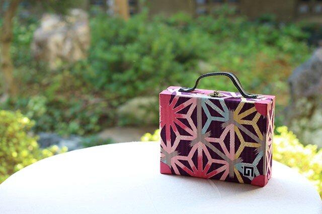麻の葉のはこかばん(小)紫の画像1枚目