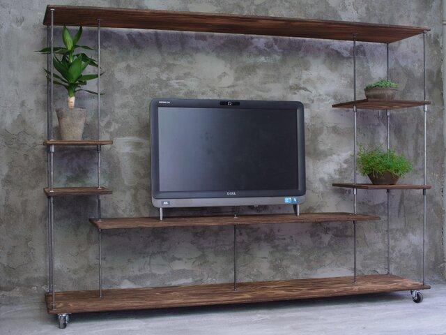 wood iron shelf 1010*1360*300の画像1枚目