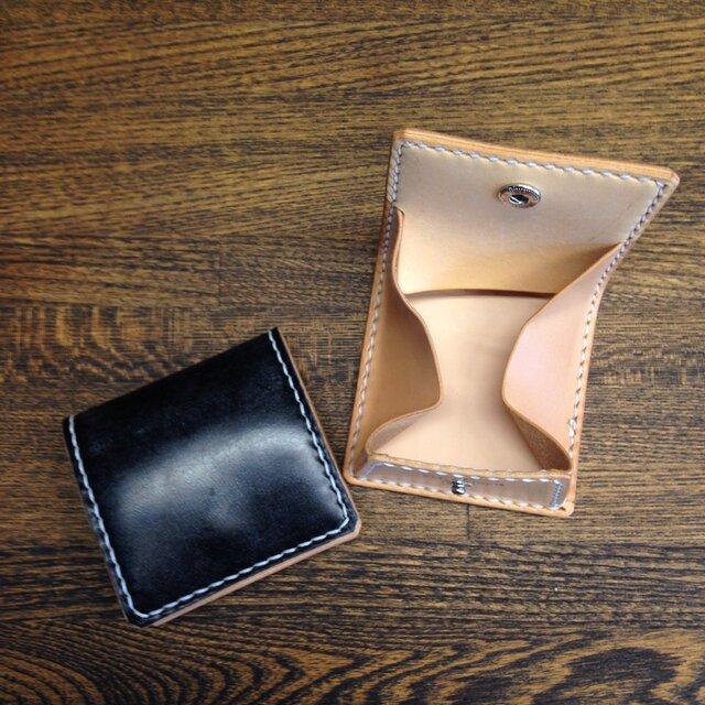 ブライドルボックスコインケース 黒の画像1枚目