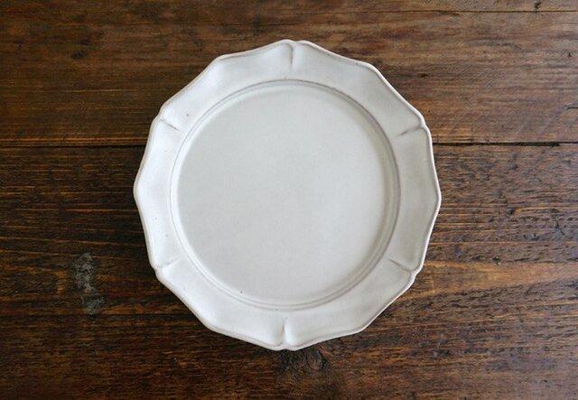 花リム皿L(ライトグレー)の画像1枚目