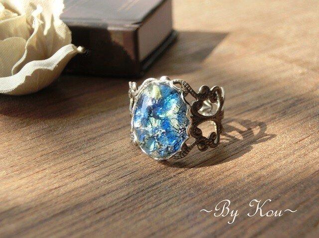 *:§ Blue Opal §:*ヴィンテージ・レーシーリング。の画像1枚目