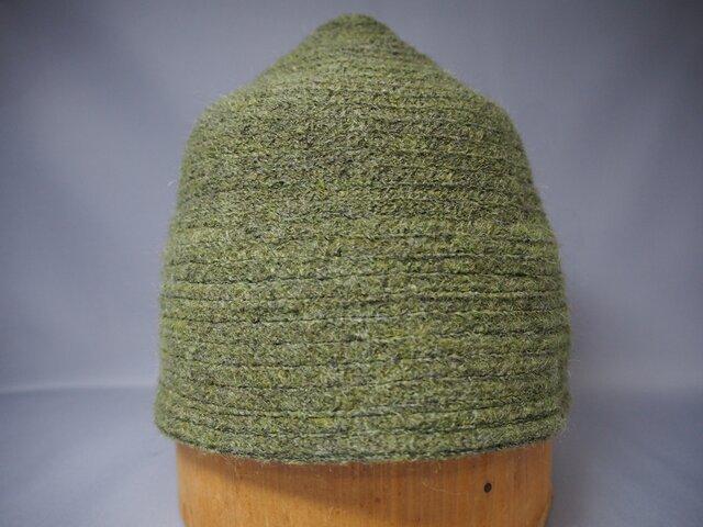 三角帽子ブリムなし(グリーン)の画像1枚目