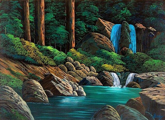 山奥の滝の画像1枚目