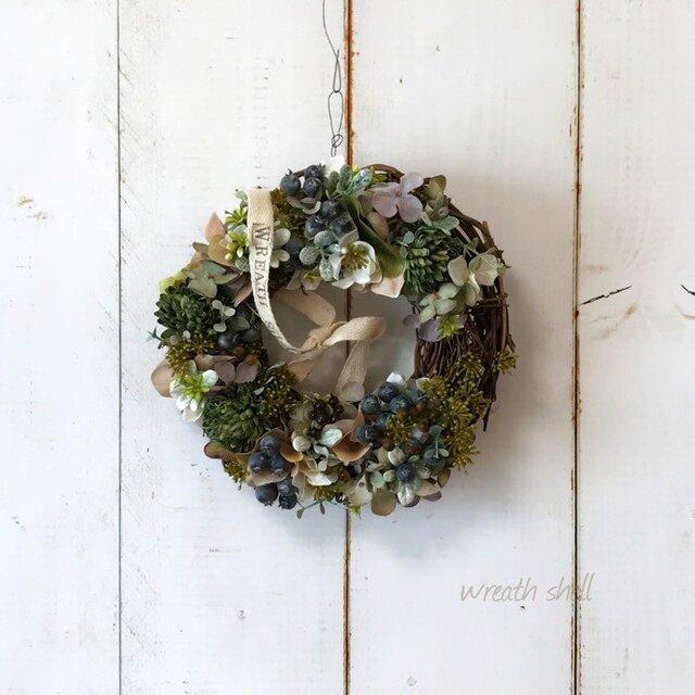 Natural wreath ・ 大人カラーのナチュラルベリーリースの画像1枚目
