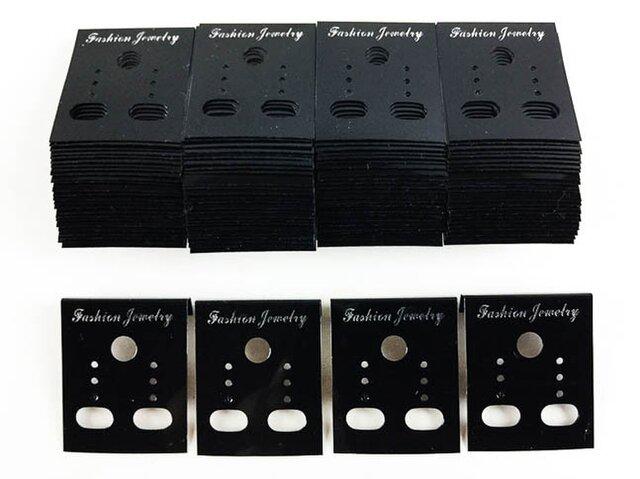 送料無料 ピアス 台紙 ブラック 100枚 37mmx30mm 黒色 イヤリング 台紙 アクセアリー 飾り (AP0184)の画像1枚目