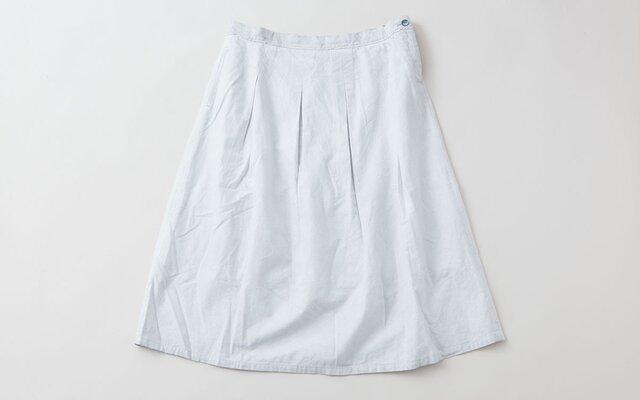 【送料無料】enrica cottonskirt lightgrey / botanical dyeの画像1枚目