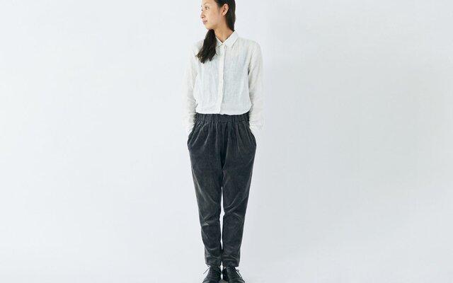 【送料無料】enrica velourpants organic cotton / botanical dyeの画像1枚目