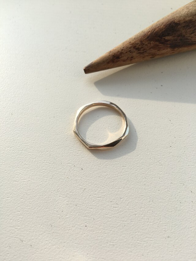 -SOLD OUT- simple gold ring No.3(k10)の画像1枚目
