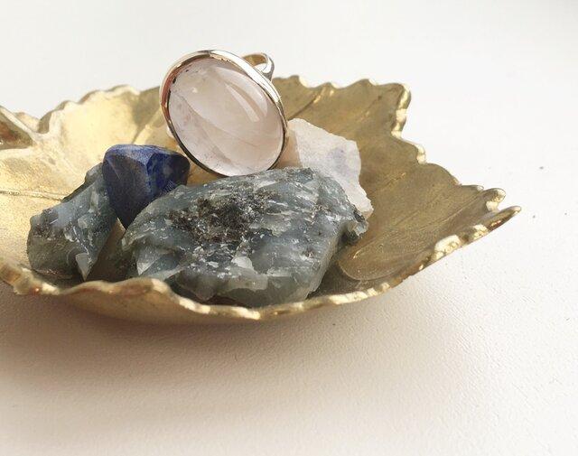 -SOLD OUT-  rose quartz ring k10の画像1枚目