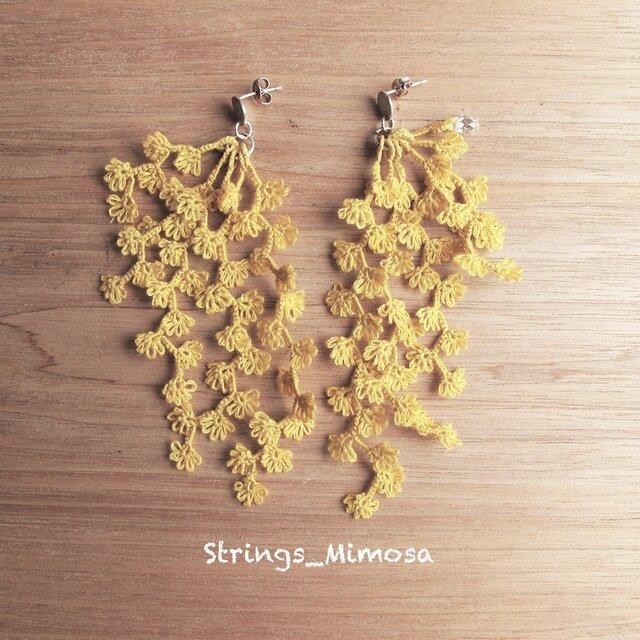 受注*Pierces,Flower strings_mimosaの画像1枚目