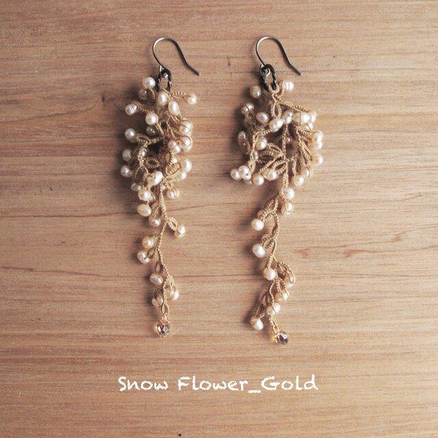 受注*Pierces, Snow Flower_goldの画像1枚目