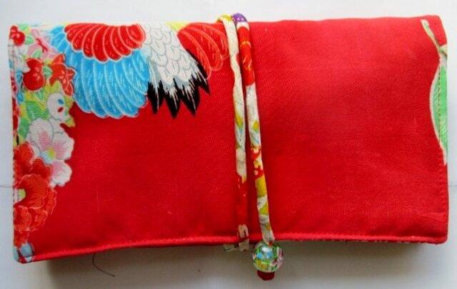 送料無料 女の子の着物で作った和風財布 2957の画像1枚目