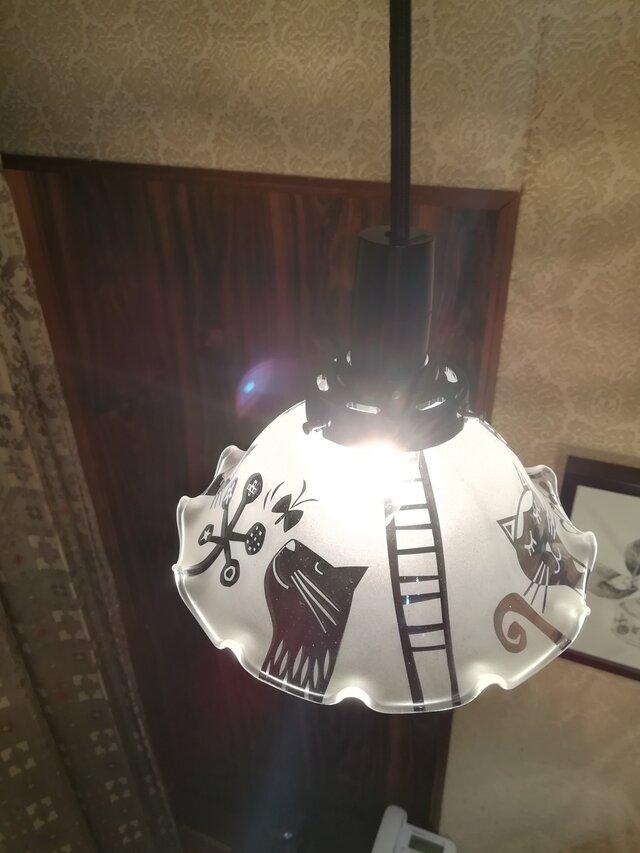 ランプ  ニコニコ猫 (コード50cm)の画像1枚目
