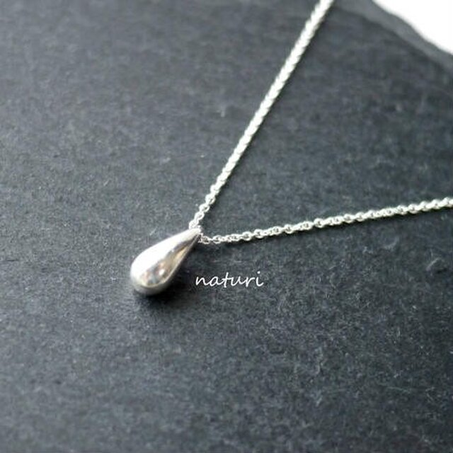 【rosee】sv925 drop necklaceの画像1枚目