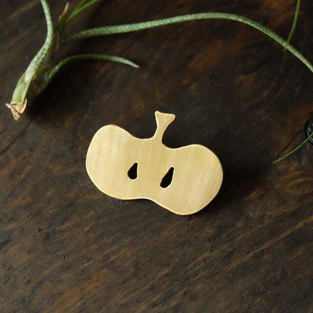 真鍮ブローチ apple B009の画像1枚目
