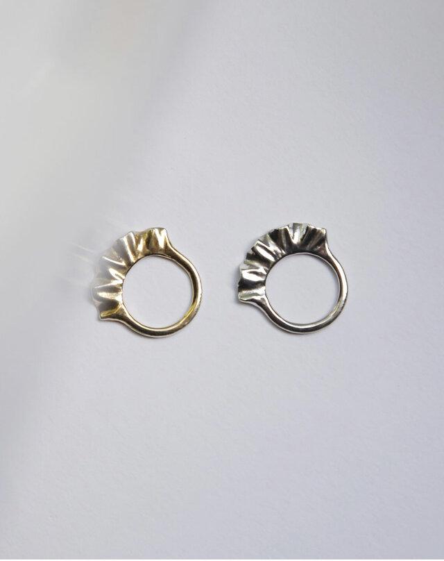 frill ring silverの画像1枚目