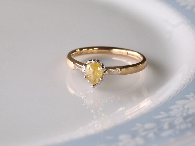 イエローダイヤモンド指輪の画像1枚目