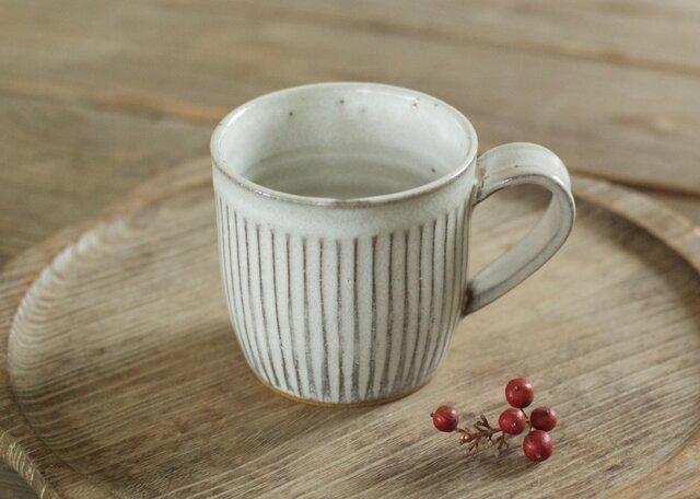 マグカップ(白/鎬)の画像1枚目