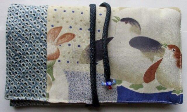 送料無料 子供の着物で作った和風財布・ポーチ 2966の画像1枚目