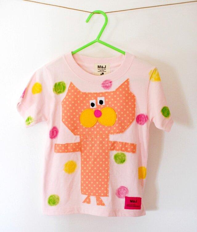 tonton crayon cat pink_ size 80-110の画像1枚目