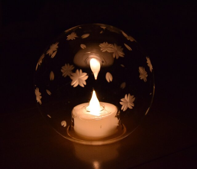 東京切子(花切子)LEDランプ 「桜」の画像1枚目