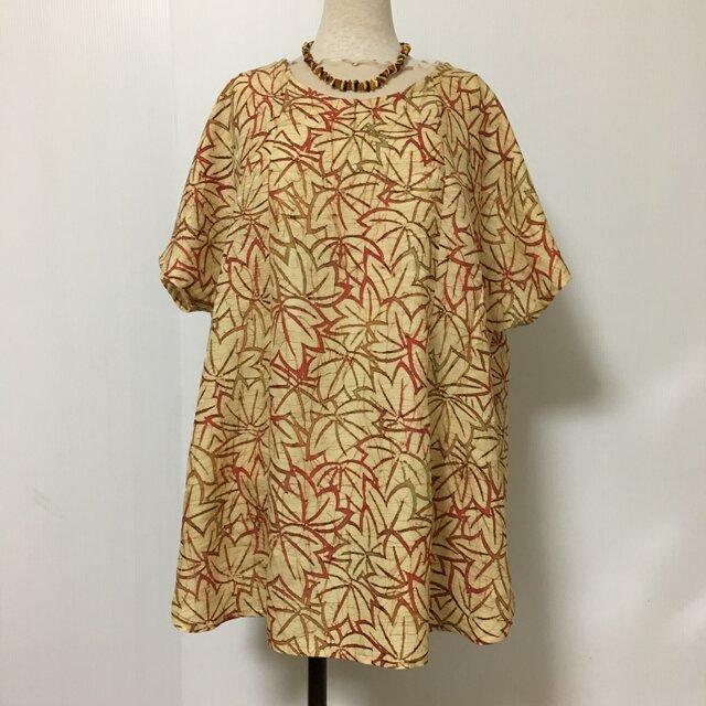 正絹羽織 着物リメイク チュニック フリーサイズの画像1枚目