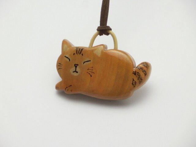 桂の猫ペンダント P1232の画像1枚目