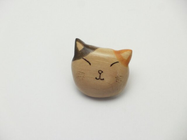 桂の猫ブローチ B1222の画像1枚目