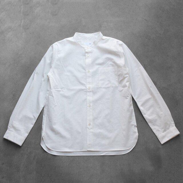 バンドカラーコットンシャツ[ユニセックスsize3]の画像1枚目