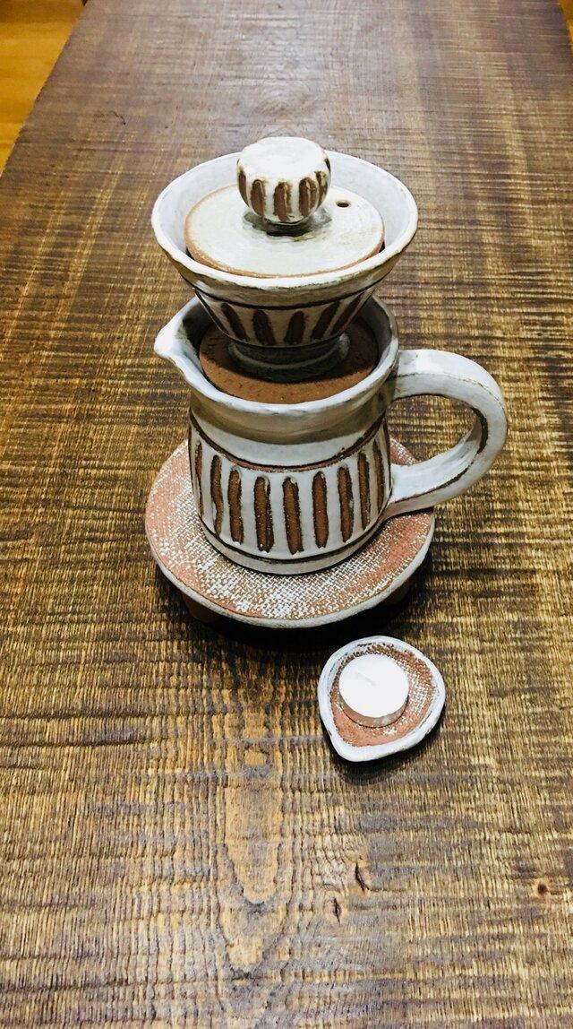 白茶陶器どりっぷセットの画像1枚目