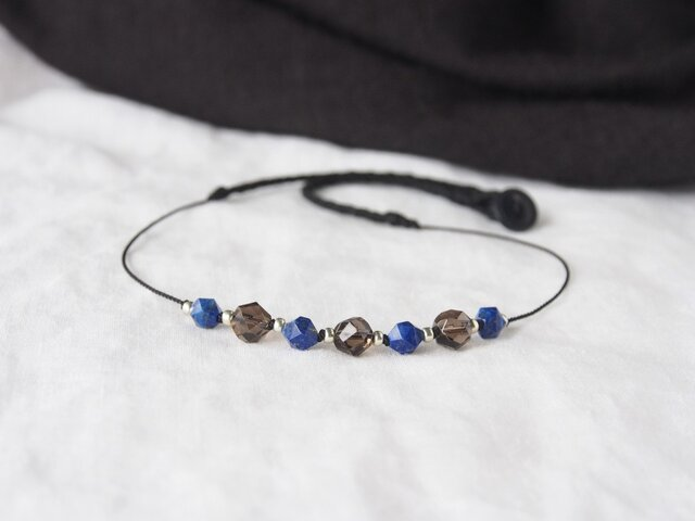 Smoky&Blue Short Necklaceの画像1枚目