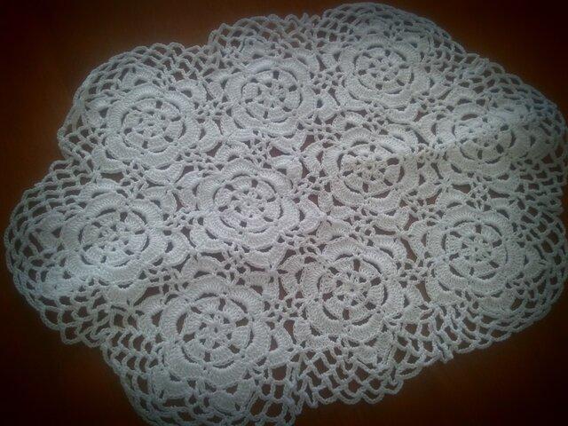 お花レース編み(六角形・ホワイト)の画像1枚目