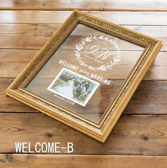 ウェルカムボード グレース Grace WELCOME-【B】 【送料無料】 【ウェディング】の画像1枚目
