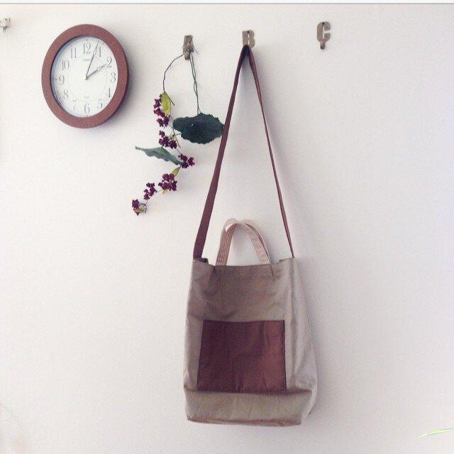 期間限定価格❤︎¥2899 ポケット付きトートbagの画像1枚目