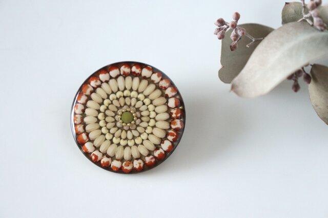 お米のブローチ タカキビ 富山県産の画像1枚目