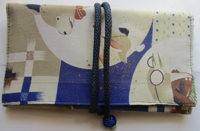 送料無料 子供の着物で作った和風財布・ポーチ 3009の画像1枚目