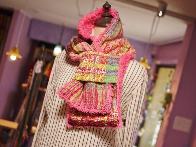 手織り もこもこファーストールの画像1枚目