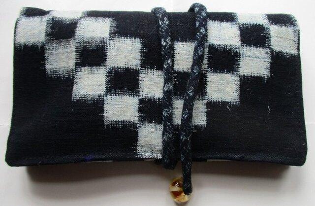 送料無料 久留米の絵絣で作った和風財布・ポーチ 3012の画像1枚目