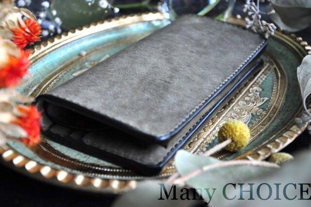 イタリアンレザー・革新のプエブロ・長財布(グリージオ)の画像1枚目
