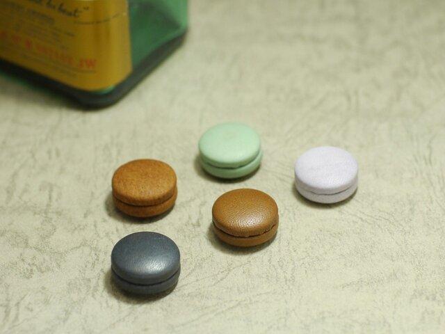 マカロンのようにかわいい革製マグネット【限定5種類から5つ選んで】の画像1枚目