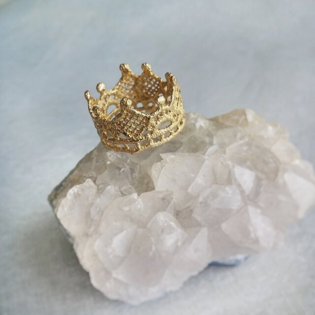 Crown ring (SILVER gold)の画像1枚目