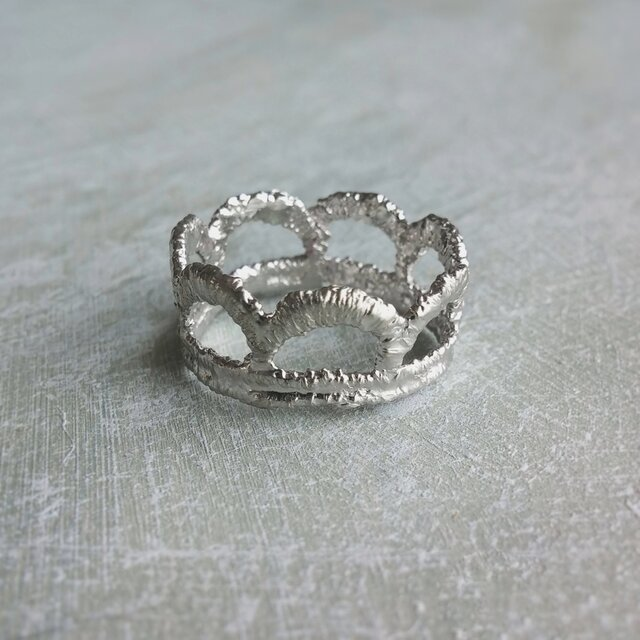 Simple crown ring (silver)の画像1枚目