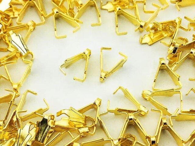 送料無料 バチカン ゴールド 100個 8mm Aカン カン 付き デザインバチカン ネックレス 金具 留め具 AP0375の画像1枚目