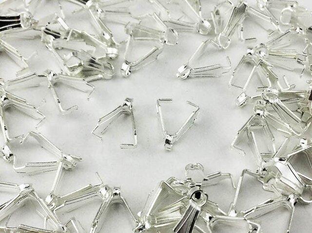 送料無料 バチカン シルバー 白銀 100個 8mm Aカン カン 付き デザインバチカン ネックレス 留め具 AP0376の画像1枚目