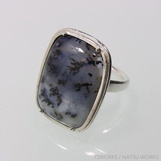 デンドリック SnowScene Agate Ringの画像1枚目