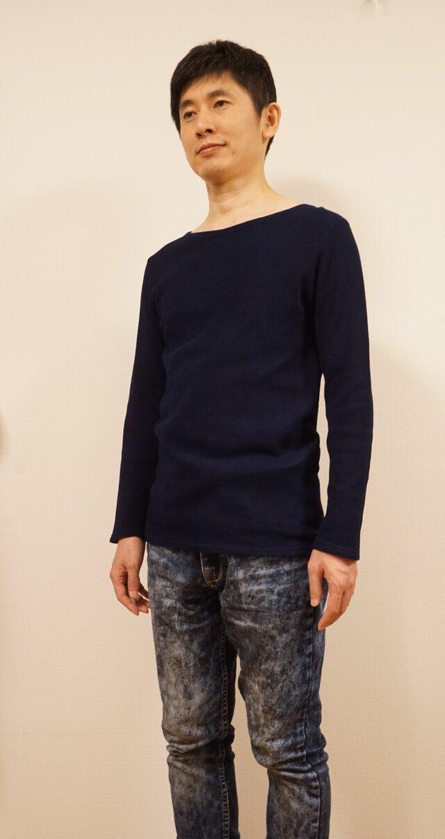 藍染 長袖カットソー size3の画像1枚目